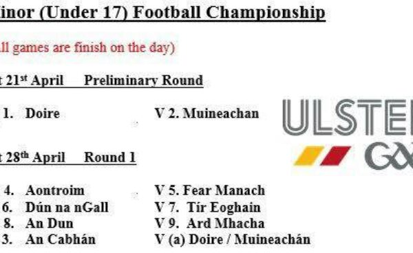 Ulster Minor (U17) Football Championship 2018