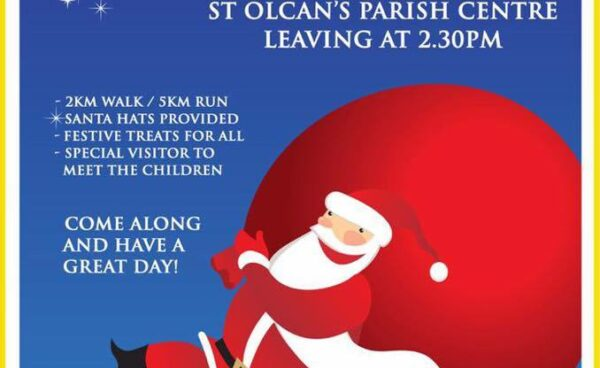 St Marys Rasharkin - Santa Dash 10th December #SaffronAid2