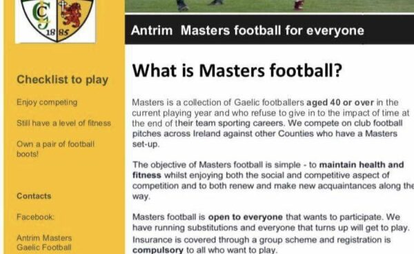 Antrim Masters Football