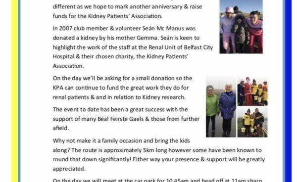 CLG Uí Dhonnabháin Rosa - annual charity fundraiser