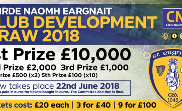 Moneyglass GAC Development Draw - 22nd June 18