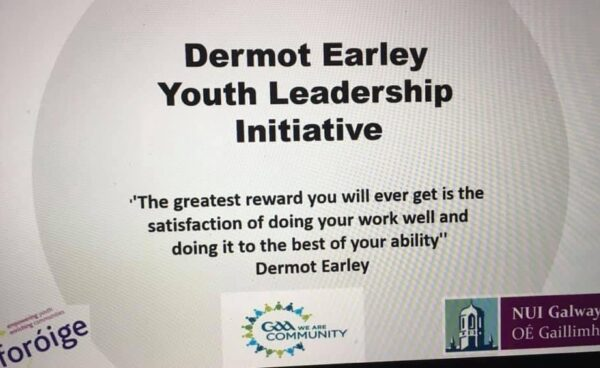 Antrim Clubs Complete Online Dermot Earley Youth Leadership Initiative
