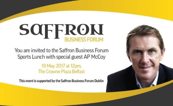Tickets released for Saffron Business Forum Sports Lunch with special guest AP McCoy