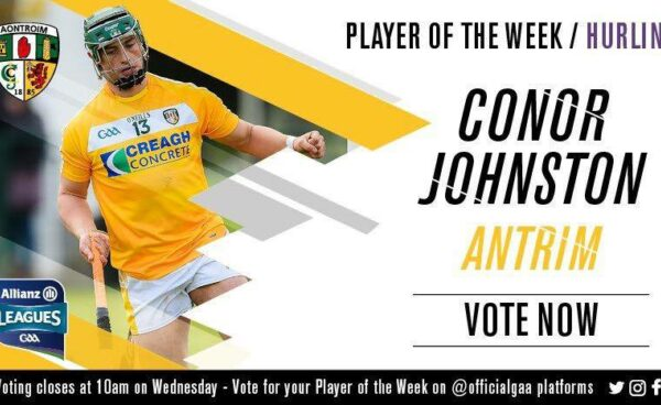 Conor Johnston voted GAA.ie Hurler of the Week