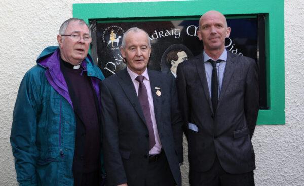 Unveiling and dedication of Pádraig Mac Piarais Plaque for Dunloy GAA & CC grounds