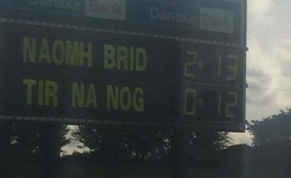 Naomh Brid Cloughmills goal v Tir na nOg Randalstown.