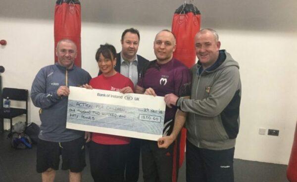 Senior Footballers and Senior Football Management Team raise £1250 for Action for Children Charity