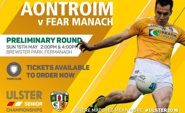 Purchase your #Ulster2016 Antrim v Fermanagh tickets online and save 33% NOW
