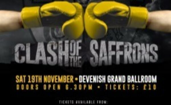 Clash of the Saffrons! Saturday 19th November
