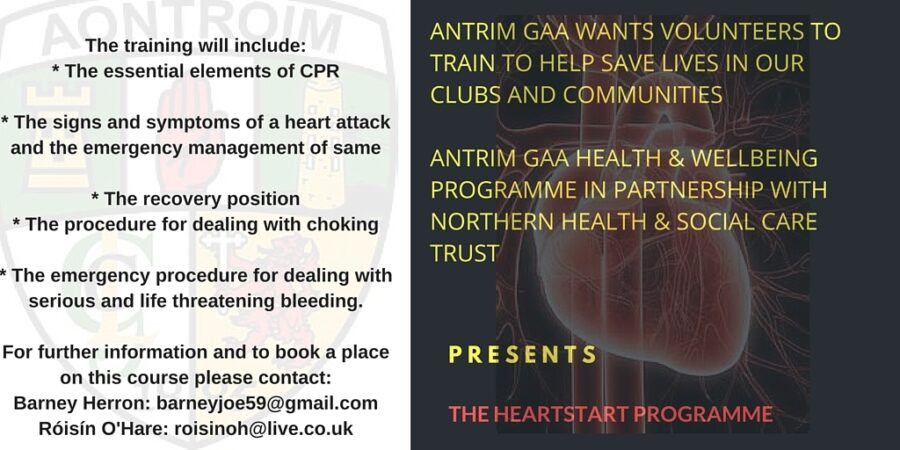 Become a HeartStart Instructor - Antrim GAA