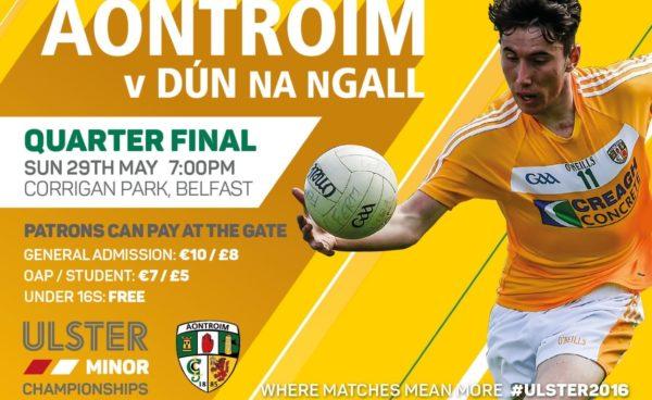 Electric Ireland Ulster GAA Football Minor Championship Quarter Finals